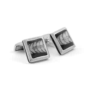 Limited Edition Orthoceras Fossil and Silver Cufflinks