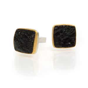24ct Gold, Sterling Silver and Antique Tourmaline Cufflinks