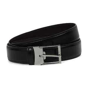 Narrow Dark Brown Calf Leather Belt