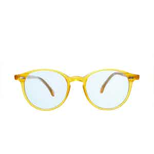 Cran Honey Acetate Blue Lens Sunglasses
