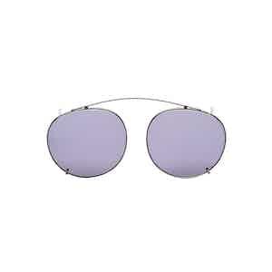 Clip Silver Metal Gradient Grey Lens Sunglasses Frames