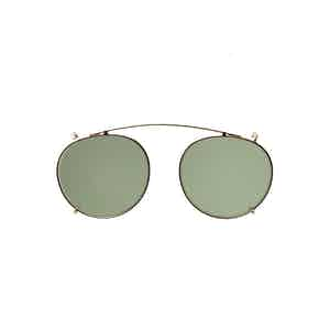 Clip Gold Metal Bottle Green Lens Sunglasses Frames