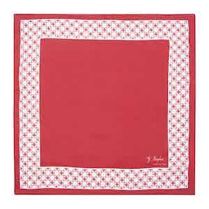 Red Cotton Foulard Myland Pocket Square