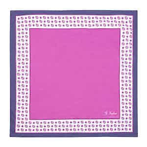 Fuscia Cotton Foulard Myland Pocket Square