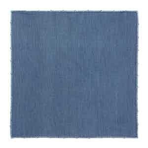 Denim Chambray Cotton Embroidered Pocket Square