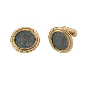 Bronze Coin Cufflinks