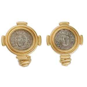 Silver Drachm Coin Cufflinks