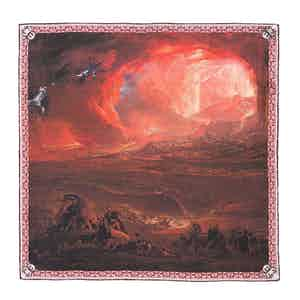 The Destruction Of Pompeii Silk Pocket Square