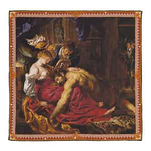 Samson and Deliah Silk Pocket Square