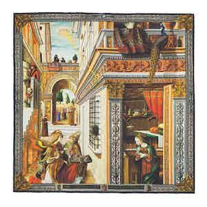 The Annunciation, With Saint Emidius Silk Pocket Square