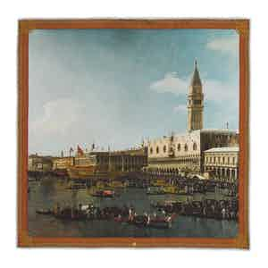Venice: The Basin of San Marco on Ascension Day Silk Pocket Square