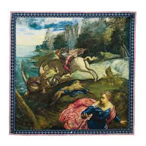 St George And The Dragon Silk Pocket Square