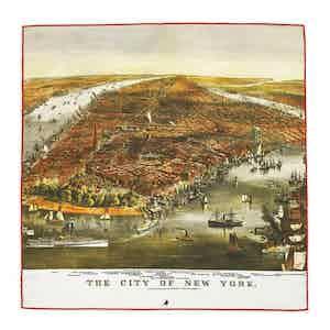 Map Of New York Silk Pocket Square