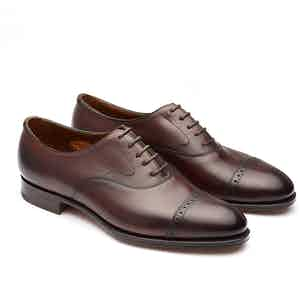 Dark Antique Oak Berkeley Leather Oxfords