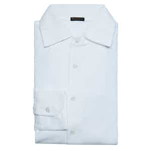 White Long Sleeve Polo Shirt
