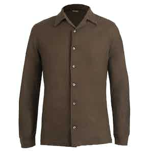 Brown Cashmere Shirt