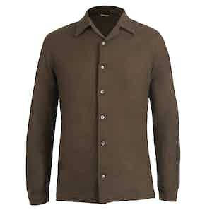 Brown Cashmere Shirt