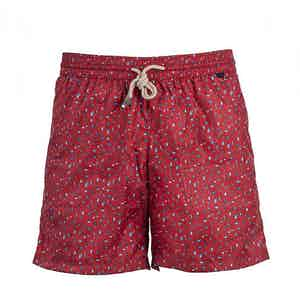 Red Seahorse Swim Shorts