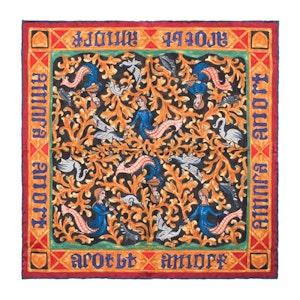 Red Mermaid Print Silk Pocket Square