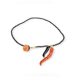 Black Onyx and Gold Bracelet