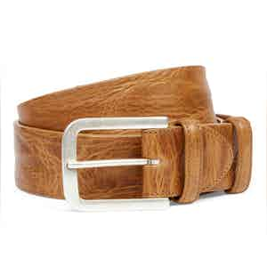 Golden Syrup Belt With Aged Silver Buckle