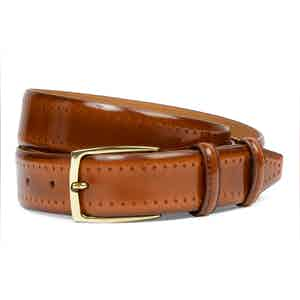 Pacino Fudge Cordovan Leather Belt
