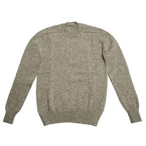Flannel Grey Shetland Wool Sweater