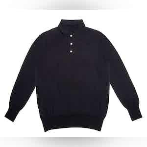 Navy Lightweight Merino Polo Shirt