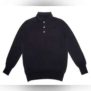 Navy Lightweight Merino Polo Shirt