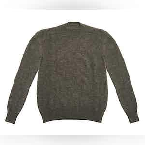 Grey Shetland Wool Sweater