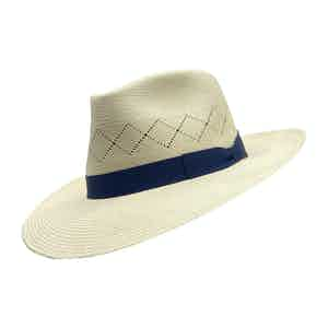 Savannah White Toquilla Palm Straw Hat