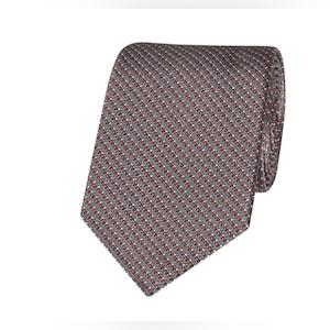 Grey Pixel Silk Tie