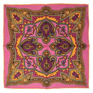 Pink Positano Silk Pocket Square