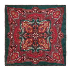 Green Cinnamon Ripasso Silk Pocket Square