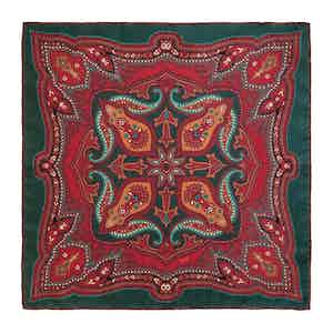 Green Cinnamon Ripasso Silk Pocket Square
