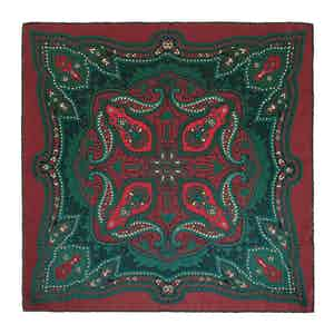 Red Clove Ripasso Silk Pocket Square