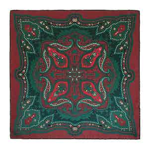 Red Clove Ripasso Silk Pocket Square