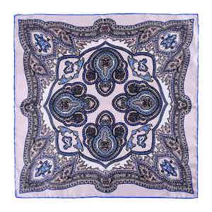 Sand Salina Silk Pocket Square