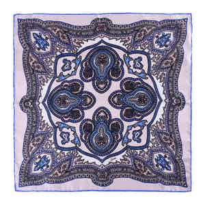 Sand Salina Silk Pocket Square
