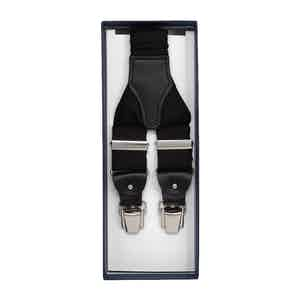 Black Silk and Leather Braces