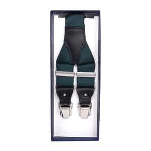Green Silk and Blue Leather Braces