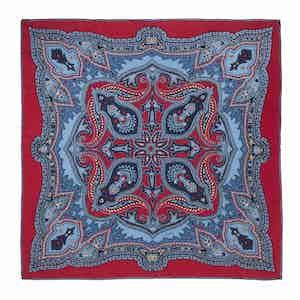 Red Sugar Ripasso Silk Pocket Square