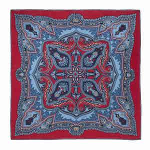 Red Sugar Ripasso Silk Pocket Square