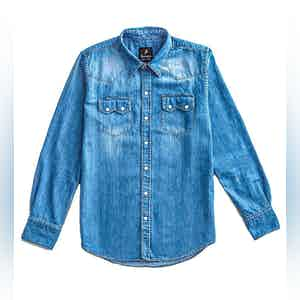 FDP Light Denim Western Shirt