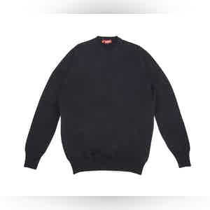 Blue Cashmere Crew Neck Sweater