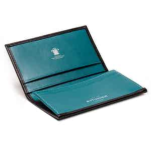 Black and Turquoise Visiting Card Case, Sterling Collection