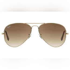 Aviator Gradient RB3025-001/51 Gold Frames with Brown Lenses Sunglasses
