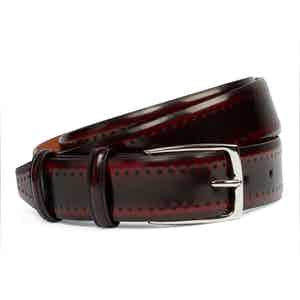 Wine Cordovan Leather Belt
