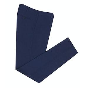 Navy Straight Leg Cotton Trousers