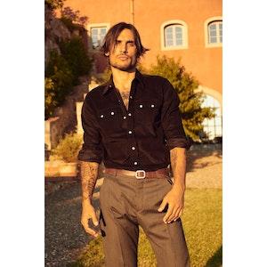 Trinity Grey Vitale Barberis Canonico Herringbone Light Wool Trousers